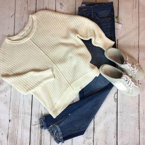 Athleta Amity Pullover Sweater Cream color Size S
